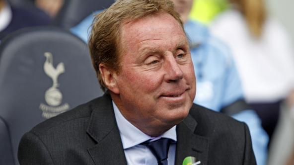 'Tottenham\'s English manager Harry Redknapp looks on before the English Premier League football match between Tottenham Hotspur and Everton at White Hart Lane in north London, England on October 23,