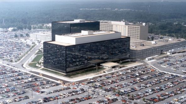 'An undated aerial handout photo shows the National Security Agency (NSA) headquarters building in Fort Meade, Maryland.  REUTERS/NSA/Handout via Reuters   (UNITED STATES - Tags: POLITICS) THIS IMAGE