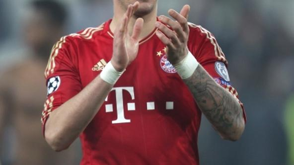 'Bayern Munich's Mario Mandzukic celebrates at the end of the gamePhoto: Press Association/PIXSELL'