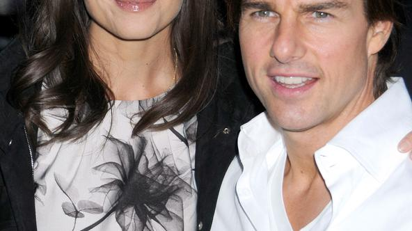 Katie Holmes and Tom Cruise attend the premiere of 'The Romantics', hosted by the Cinema Society, held at the AMC Loews 19th Street in New York (Pictured: Katie Holmes, Tom Cruise)  Photo: Press Association/PIXSELL