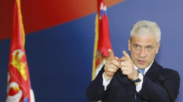 \'Serbian President Boris Tadic speaks to reporters in Belgrade, May 26, 2011. Serbia said on Thursday it had arrested Bosnian Serb wartime general Ratko Mladic after years on the run from internation